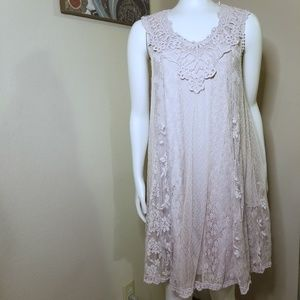 Altar'd State Boho Mesh and Lace Dress M